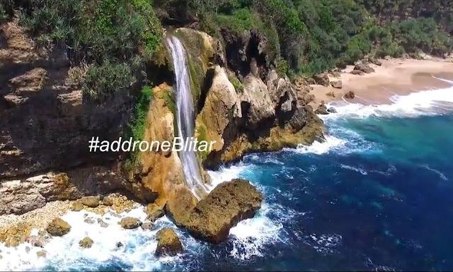 Rute Lokasi dan Alamat Pantai Umbul Waru Blitar: Pantai Selatan Berhias Air Terjun