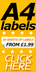 Self Adhesive Laser Labels In A4 Sheets To Print On - A4 Sheets Of Labels