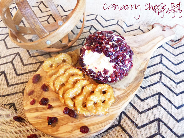 Cranberry Cheese Ball | a savory and sweet cheese ball that is perfect for the holidays! | #holidayrecipes #recipe #cheeseball #holidayfood #westelm #mywestelm #spon