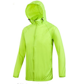 Chaqueta impermeable, cortavientos con capucha y protección Anti UV