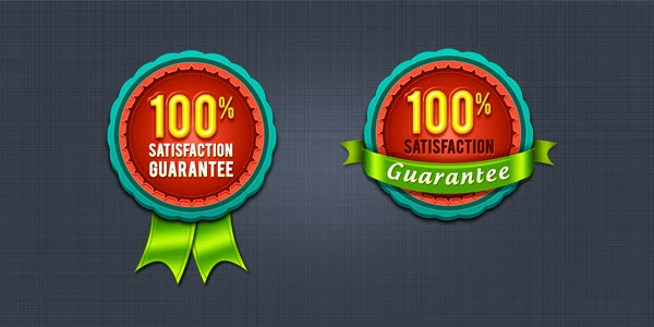 Satisfaction Guarantee Badge & Seal PSD