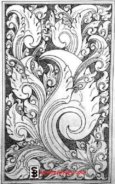 Motif Ragam Hias Nusantara : motif, ragam, nusantara, Contoh, Ragam, Nusantara, Bagian, (Motif, Flora), Budayaku