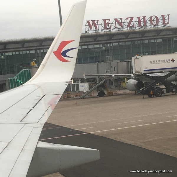 China Eastern airplane lands at Wenzhou airport in China