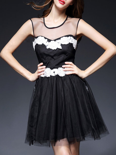 organza mini dress