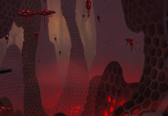 Una suerte de gran colmena de aspecto infernal da cobijo a un gran número de mogs