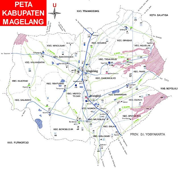 Gambar Peta Infrastruktur Kabupaten Magelang