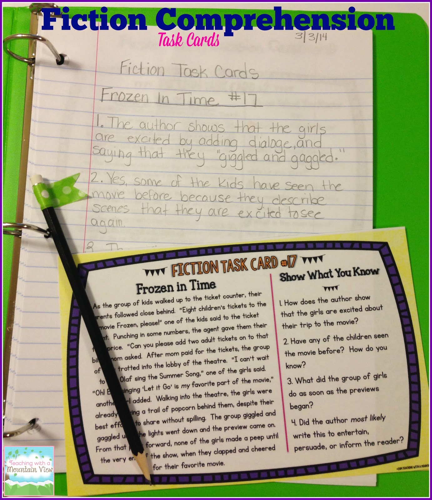 Teaching With A Mountain View: Fiction Comprehension
