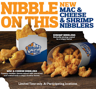 News white castle new shrimp and mac cheese nibblers for White castle double fish slider with cheese