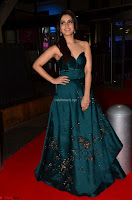 Raashi Khanna in Dark Green Sleeveless Strapless Deep neck Gown at 64th Jio Filmfare Awards South ~  Exclusive 012.JPG