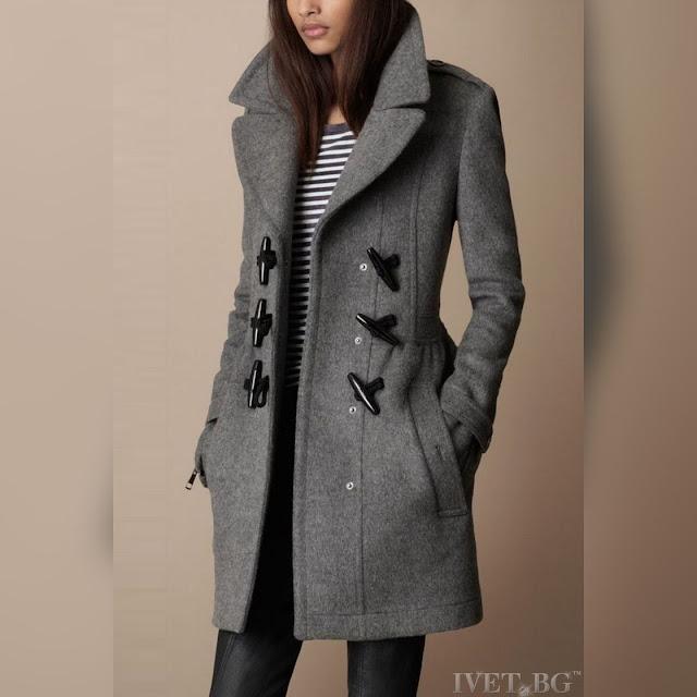Γυναικείο γκρι παλτό VAIANA