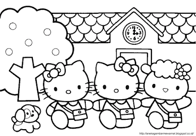 Gambar Mewarnai Hello Kitty (2)