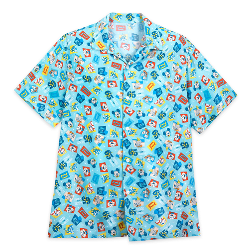 Disneyland Park 65th Anniversary Adult Camp button-up shirt  Merchandise Online