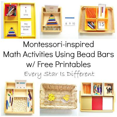 Montessori-inspired Math Activities Using Bead Bars with Free Printables
