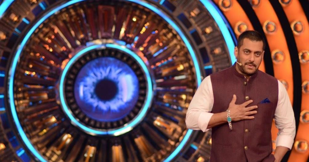 सलमान खान बिग बॉस 9 को होस्ट करते हुए।