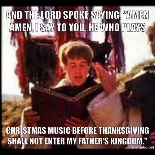Laugh Catholic: Christmas Music Before Thanksgiving