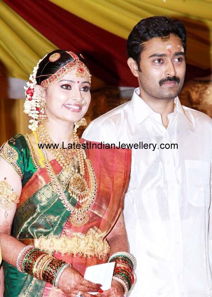 Actress Sneha Wedding Jewellery