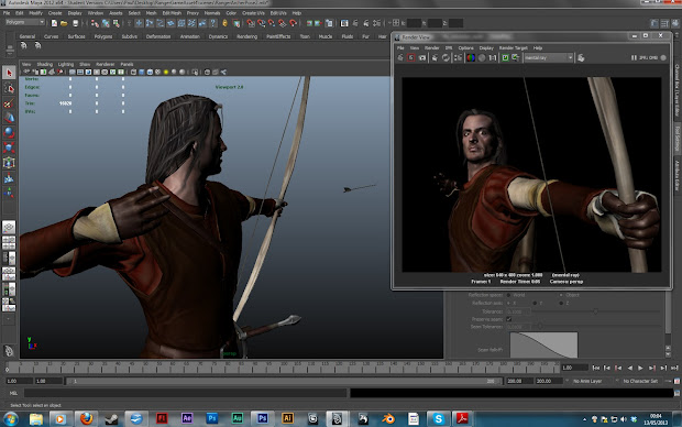 05 2013 Rigging Model And Posing. Medieval