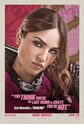 Eiza Gonzalez en el nuevo cartel de Baby Driver