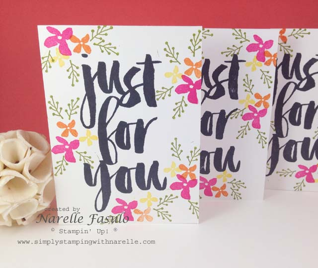 Botanicals For You - Sale-A-Bration - FREE with a $90 order - Simply Stamping with Narelle - available here - http://www3.stampinup.com/ECWeb/default.aspx?dbwsdemoid=4008228