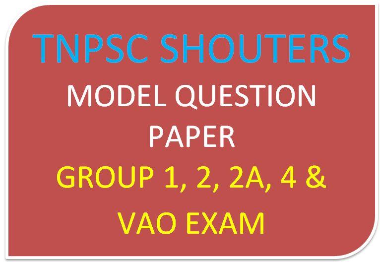 Tnpsc Vao Exam Question Paper In Tamil Pdf