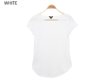 Ann Taylor Lined Round Neck Tee white