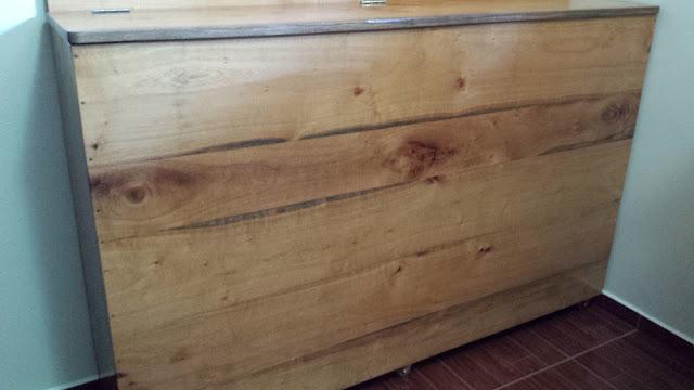 cabeceira baú de madeira estilo rústico