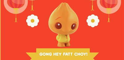 Chinese New Year Edition Fatt Choy Bao Vinyl Figure by Scott Tolleson x Pobber