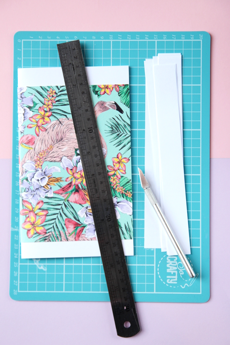 HOW TO MAKE NOTEBOOKS USING GREETINGS CARDS.