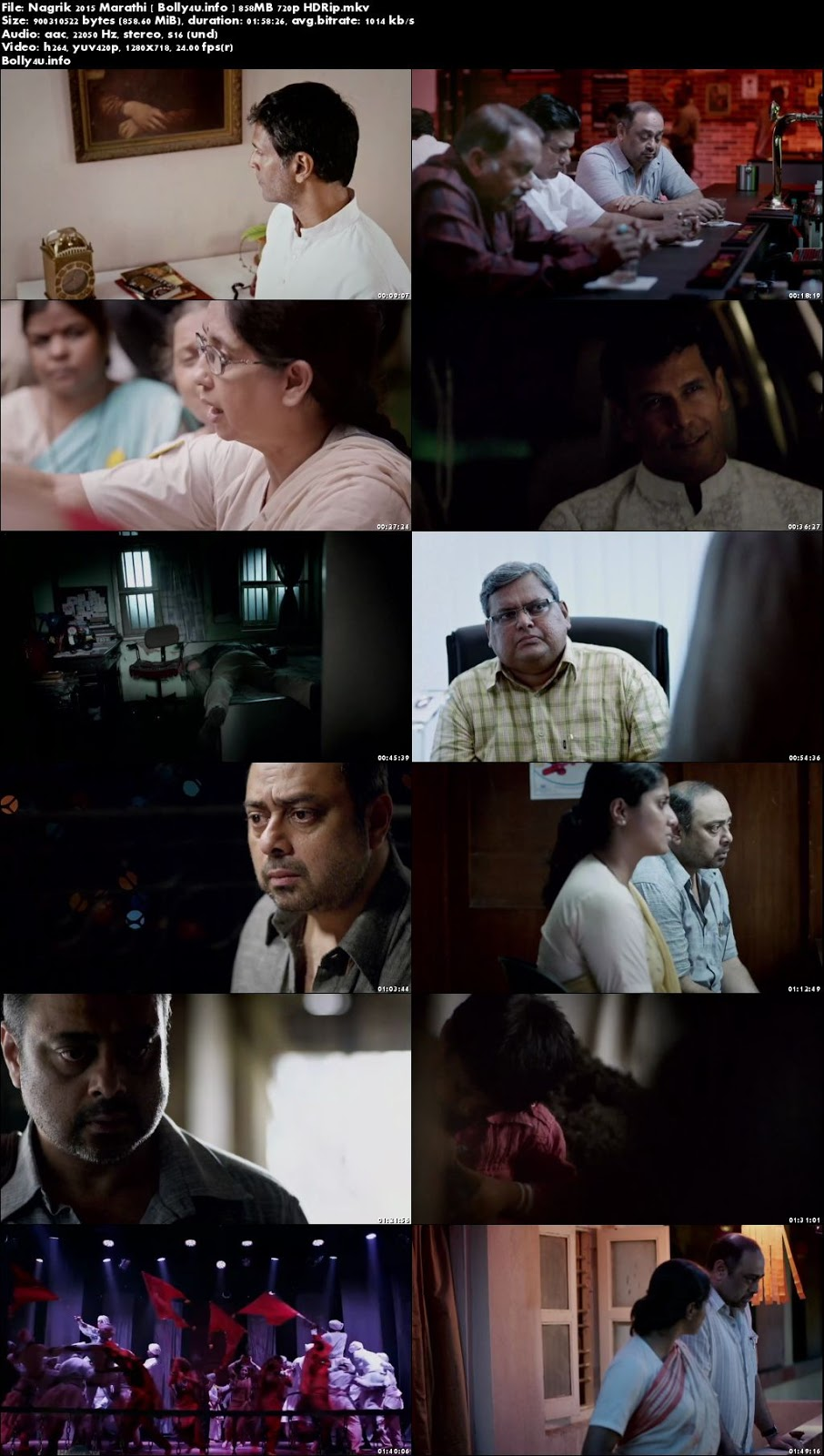 Screen Shoots of Nagrik 2015 HDRip 300MB Marathi Movie 480p Watch Online Free at Bolly4u.info