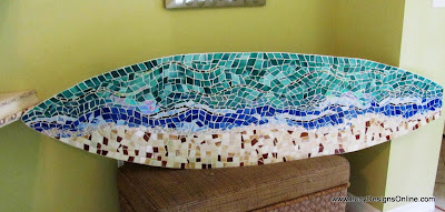 stained glass surfboard art
