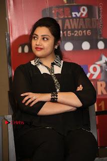 Tamil Actress Meena Latest Stills in Black Dress at TSR TV9 Awards Press Meet  0126.JPG