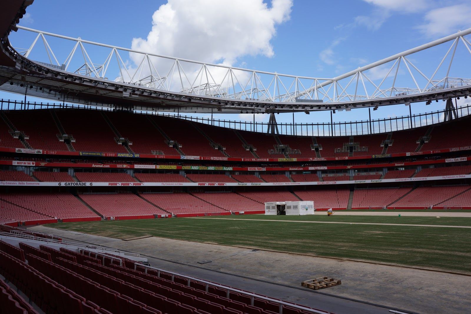 pitch works at Arsenal Stadium