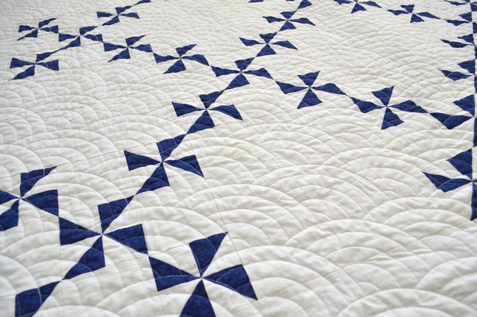 Tea Rose Home: Navy and White Pinwheel Quilt : navy white quilt - Adamdwight.com