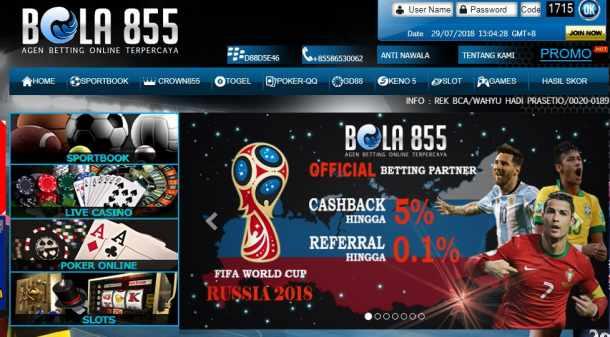 Judi Bola Online Terpercaya hanya Di Bola855.com