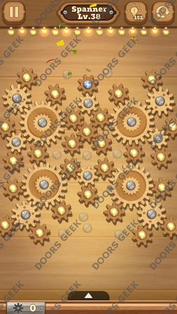 Fix it: Gear Puzzle [Spanner] Level 38 Solution, Cheats, Walkthrough for Android, iPhone, iPad and iPod