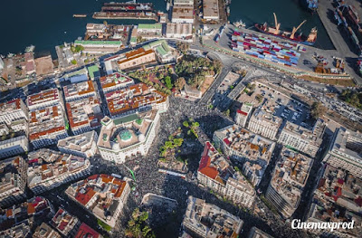 An aerial photo for the protests in Algiers earlier