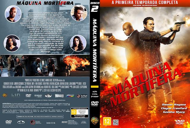 Capa DVD Máquina Mortífera - Primeira Temporada - Disco 2 [Custom]