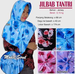 Jilbab bergo simple model serut - tantri
