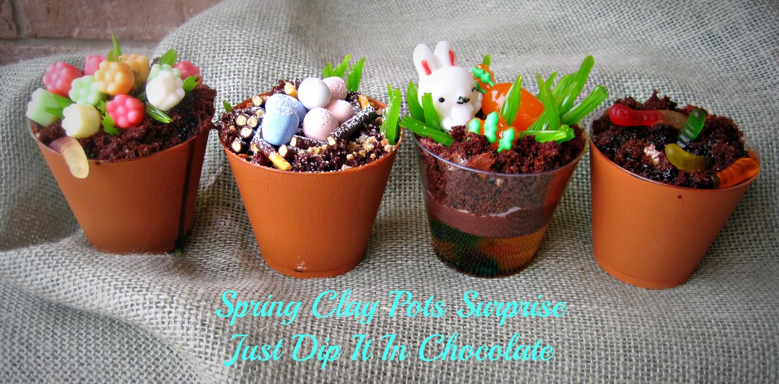 Just Dip It In Chocolate & Just Dip It In Chocolate: Spring Clay Pots with a Surprise ...