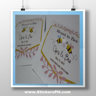 Die Cut Vinyl Wedding Stickers - Meant to Bee