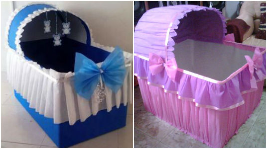 Ideas Fabulosas: Hermosas Cunas Decorativas para Baby Shower