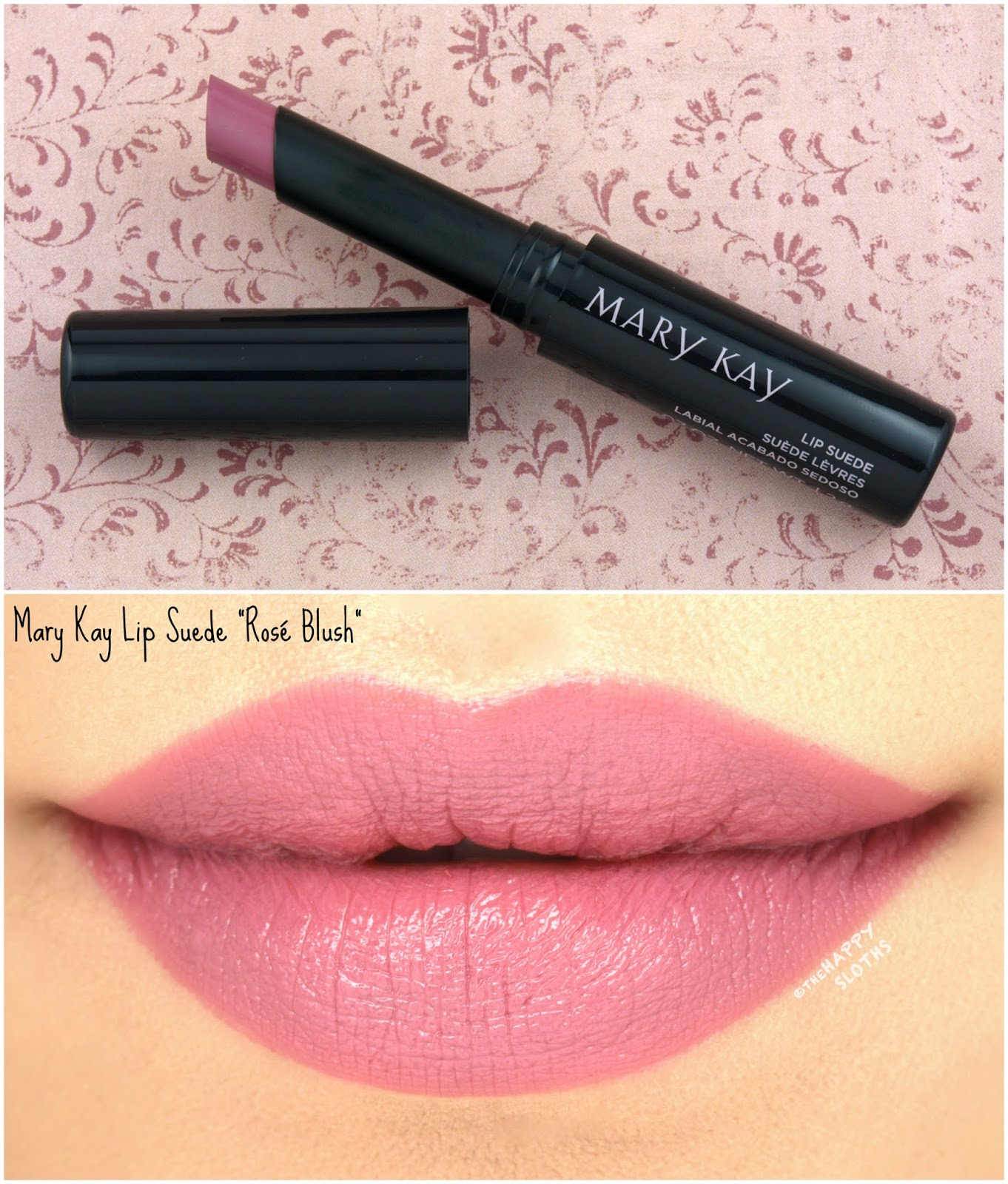 "Mary Kay Fall 2017 Color Collection | Lip Suede Lipstick in ""Rose Blush"": Review and Swatches"