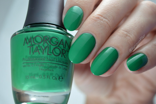 morgan taylor later alligator creme green swatch furiousfiler