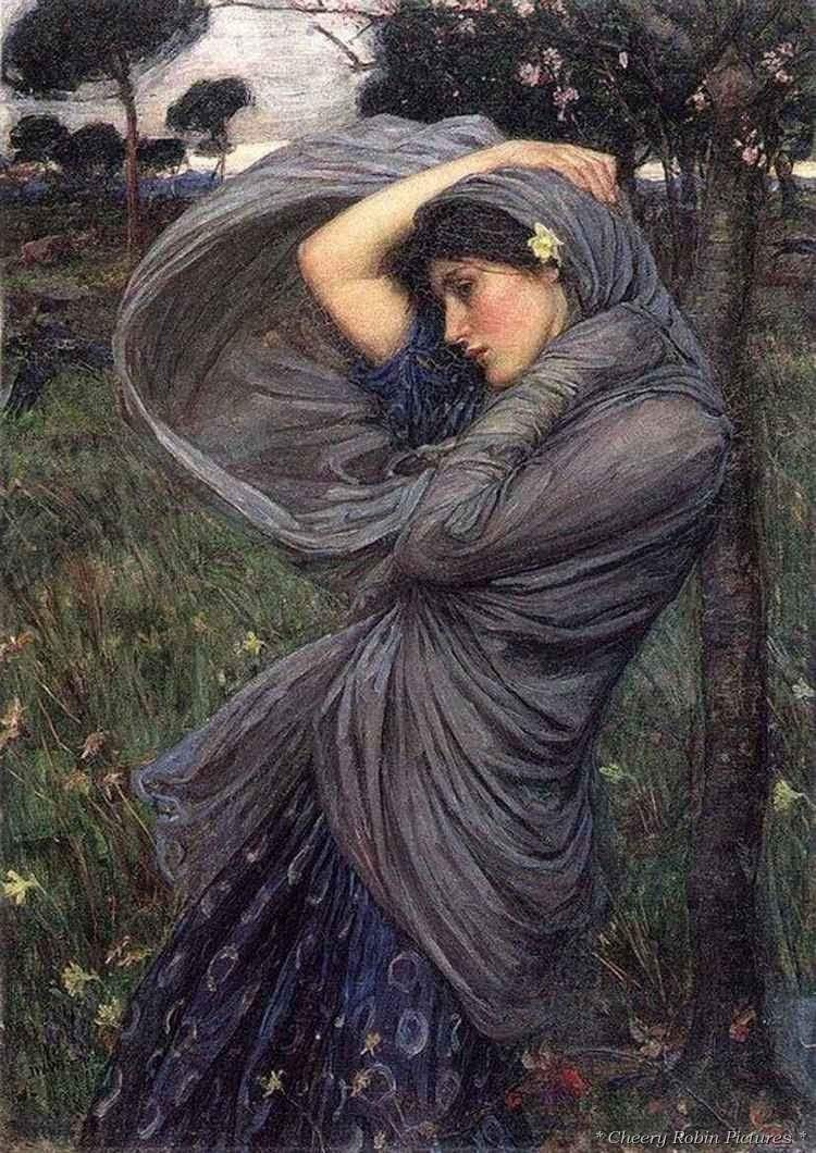 Girl at the wind