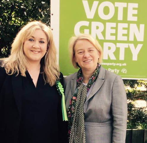 Julie Howell and Natalie Bennett