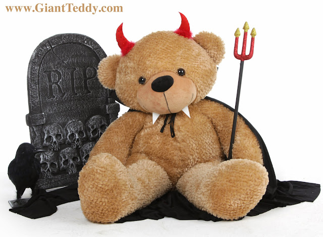 Shaggy Cuddles Halloween Teddy bear from GiantTeddy