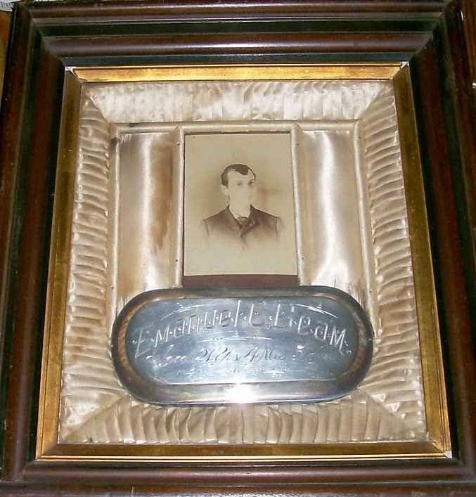 Coffin Plate Of Emanuel Beam