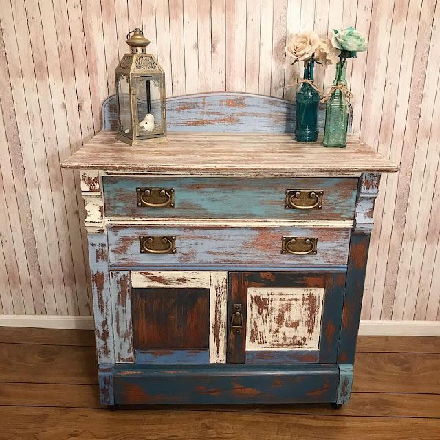 end table with bail pulls