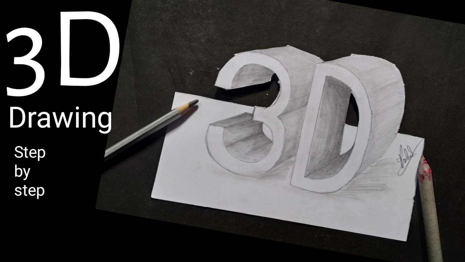 How to draw 3d block letter step by step to draw easy drawing
