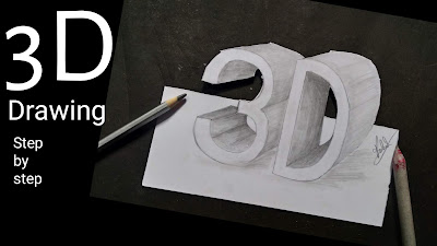 How to draw 3D block letter, step-by-step to draw easy drawing for 3D pencil drawing,3D pencil drawing with the help of Graphite pencils,how to draw 3D, 3D block letters drawing, step by step tutorial for to draw block letters, 3D block letters drawing for kids, drawing for beginners, online drawing, online drawing tutorial